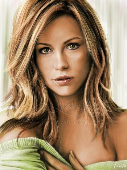 Kate Beckinsale by Linuska